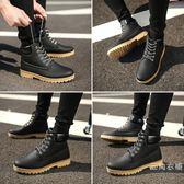 馬丁靴男夏季裝季新品鞋子男韓版潮流高筒工裝靴男士英倫風休閒鞋