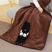 Kiro貓‧小黑貓兩用被/造型收納涼被/舒適親膚棉被【230422】
