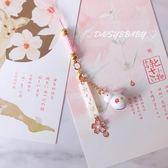 手工手機掛繩日本玉兔櫻花鈴鐺手機掛件掛飾手機鍊創意手作包包掛飾