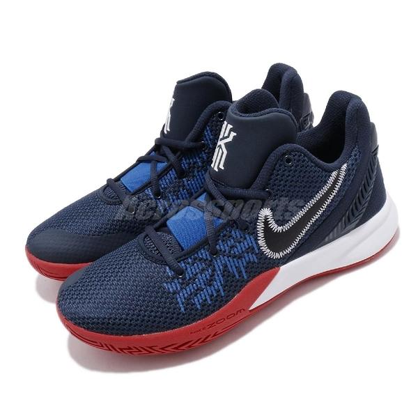 Nike 籃球鞋 Kyrie Flytrap II EP 藍 紅 二代 男鞋 運動鞋 【ACS】 AO4438-401