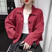 牛仔外套 秋裝新款正韓寬鬆小個子工裝夾克牛仔外套女百搭長袖開衫上衣-Ballet朵朵