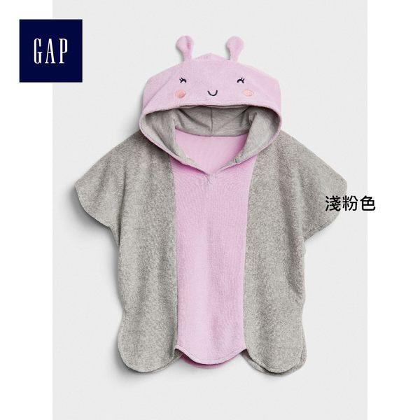 Gap女嬰兒 蝴蝶造型短袖連帽游泳罩衫 319796-淺粉色