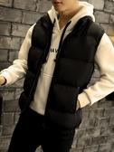 馬甲 男士冬季羽絨棉馬甲韓版潮流馬甲青少年秋冬男款保暖背心坎肩外套 果寶時尚