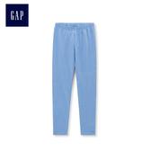 Gap女童 印花彈力針織打底褲 442001-淺藍色