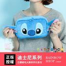 迪士尼立體絨毛大臉系列化妝包-M-Rainbow【A09090166】