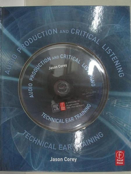【書寶二手書T1/音樂_EBW】Audio Production and...-Technical Ear..._Corey