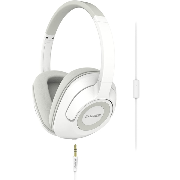 [9美國直購] Koss UR42iW 耳機 Over-Ear Headphones, in-Line Microphone and Touch Remote Wired with 3.5mm Plug, White
