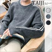 針織毛衣‧袖臂線條設計圓領針織衫針織毛衣‧三色【NTJWL908】-TAIJI-