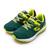 LIKA夢 LOTTO 21cm-24.5cm 雙密度避震輕量跑鞋 2 color 雙色動力系列 綠螢綠 1625 大童