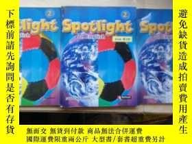 二手書博民逛書店(包罕見)SPOTLIGHT ON ENGLISH 2(STUDENT BOOK精裝,ASSESSMENT平裝,P