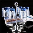 玻璃不銹鋼收納瀝水杯子架 Eb7927『毛菇小象』