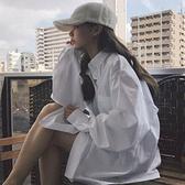 長袖襯衫 新款白襯衫女寬鬆設計感小眾洋氣外套外穿百搭長袖上衣秋裝