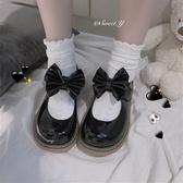 lolita鞋Lolita小皮鞋女可愛圓頭軟妹大頭鞋jk學院風百搭日系蝴蝶結單鞋 衣間迷你屋