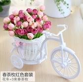 仿真花車家居裝飾品小擺件塑料花藝假花絹花【英賽德3C數碼館】