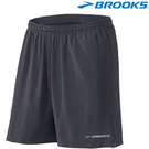 【BROOKS】男款兩件式7吋Essential 2-in-1 慢跑短褲 - 鐵灰