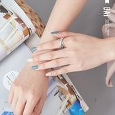 戒指 多環交叉復古s925銀C型開口戒指-BAi白媽媽【306047】