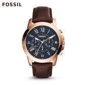 FOSSIL GRANT 古典設計棕色簡約腕錶  男 FS5068IE