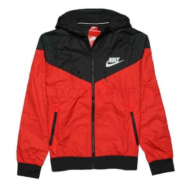 Nike 耐吉 運動外套 防風防雨 風衣外套 運動服 男女訓練外套 衝鋒衣 黑色 黑白 黑紅/澤米