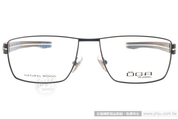 OGA 光學眼鏡 OGA8162O BB031 (藍) 別緻簡約金屬方框款 # 金橘眼鏡