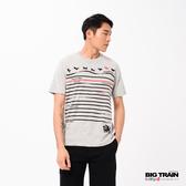 Big Train 招福犬印條圓領短袖-男-Z80135