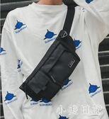潮男防盜包多功能休閒男士單肩胸包運動帆布小背包 aj12650『小美日記』