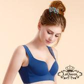 LaQueen 素面機能排汗無痕內衣組(9256 藍)