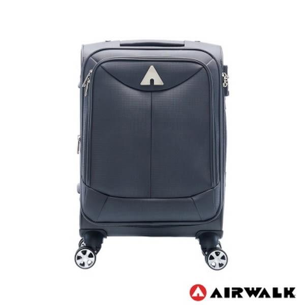美國 AIRWALK - 尊爵系列 布面拉鍊 可擴充 旅行箱/行李箱-28吋(灰)