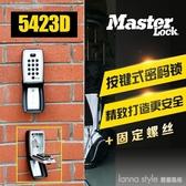 鑰匙密碼鎖大門貓眼壁掛式金屬收納盒按鍵式密碼鎖5432D  YDL