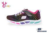 SKECHERS 運動鞋 女童 彩色 超輕量 電燈鞋 慢跑鞋 Q8233#黑彩◆OSOME奧森童鞋