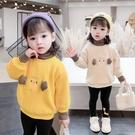 女童上衣 女童衛衣春洋氣2021新款高領加厚保暖兒童上衣打底冬裝【快速出貨八折鉅惠】