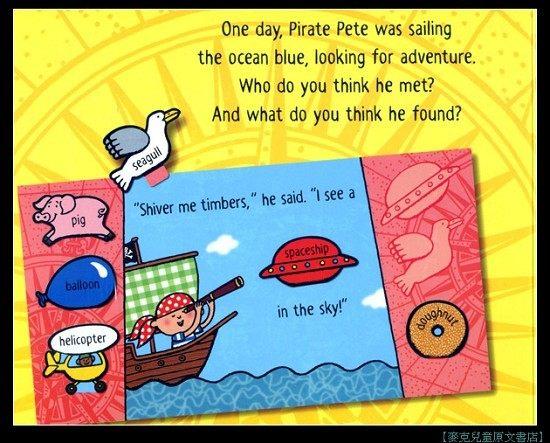 『繪本123‧吳敏蘭老師書單』--  PIRATE PETE /繪本操作書