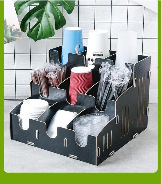 杯架-吧台桌面一次性紙杯架取杯器咖啡奶茶店取杯架拖分杯器吸管盒商用 優家小鋪