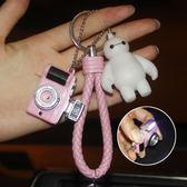 新年狗年小禮物卡通汽車鑰匙扣鏈圈情侶可愛毛球掛件