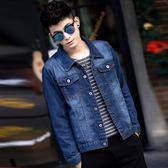 春秋季青年男士牛仔外套男寬鬆夾克修身帥氣韓版上衣潮流學生男裝 LOLITA