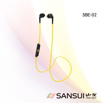 【SANSUI山水】運動型藍牙無線耳機/防汗/高音質(SBE02)