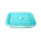 矽膠折疊保鮮盒500ML藍