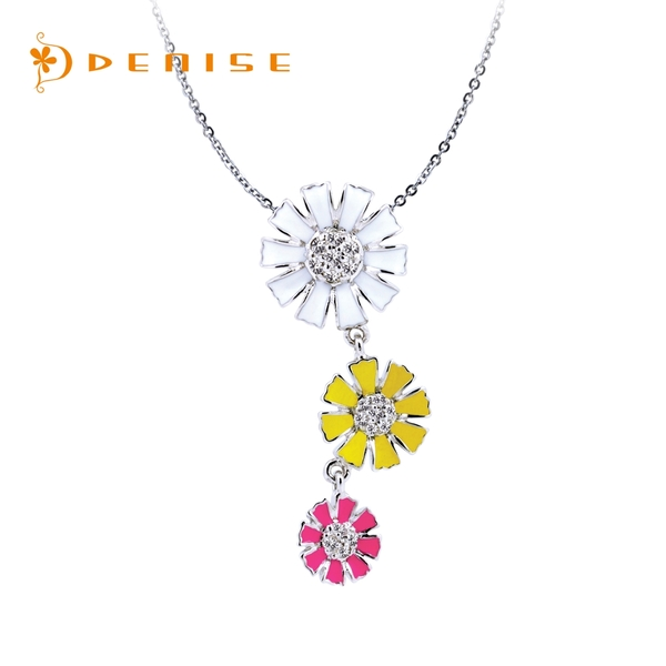 925純銀「小雛菊」項墜 / 銀飾情人禮物 / 贈白鋼項鍊