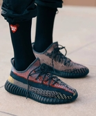 IMPACT Adidas Yeezy Boost 350 V2 Yecheil 黑 拼接 彩虹 鞋帶反光 FW5190