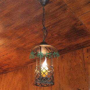 歐式復古鐵藝小吊馬燈