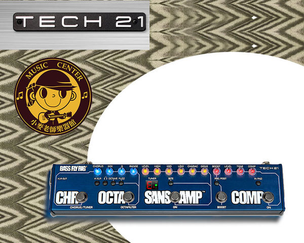 【小麥老師樂器館】TECH 21 BASS FLY RIG 綜合效果器 內建 Comp 調音器 效果器