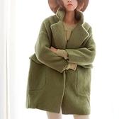 毛呢大衣-中長款時尚寬鬆舒適百搭女風衣外套3色73ki62[巴黎精品]