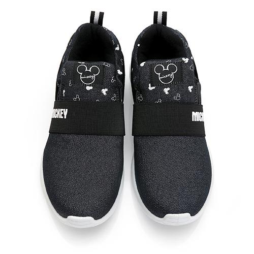 DISNEY 休閒格調 米奇亮蔥彈性休閒鞋 -黑(DW5638)