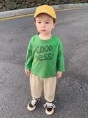 長袖T恤秋裝春秋兒童裝男童寶寶1歲小童潮上衣韓版