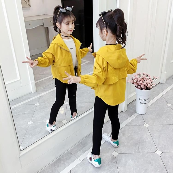 女童外套2020新款秋裝韓版兒童洋氣網紅上衣春秋季小女孩夾克童裝 怦然心動