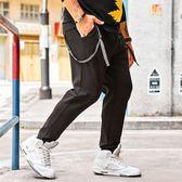 潮流長褲 潮胖男子大碼休閒系帶個性嘻哈男加肥版大尺碼休閒褲男裝褲子【非凡上品】cx7102