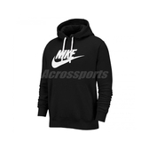 Nike 長袖T恤 NSW Club Fleece Pullover Hoodie 黑 白 男款 帽T 運動休閒 【PUMP306】 BV2974-010