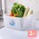 《真心良品》沃爾9號濾水保鮮盒(寬型4.6L)-3入組