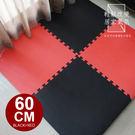時尚經典★摩登紅黑大地墊四片裝(附贈邊條) 台灣製造