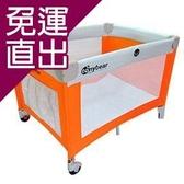 TONYBEAR 嬰兒遊戲床-灰橘【免運直出】