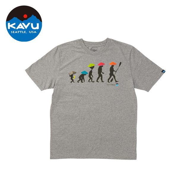 【日本限定款】西雅圖 KAVU Back To Nature Tee 棉質T-Shirt 灰色 #10426